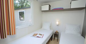 Seconde chambre Location mobil home Luxe